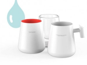 DropCup Mug +handle - szary